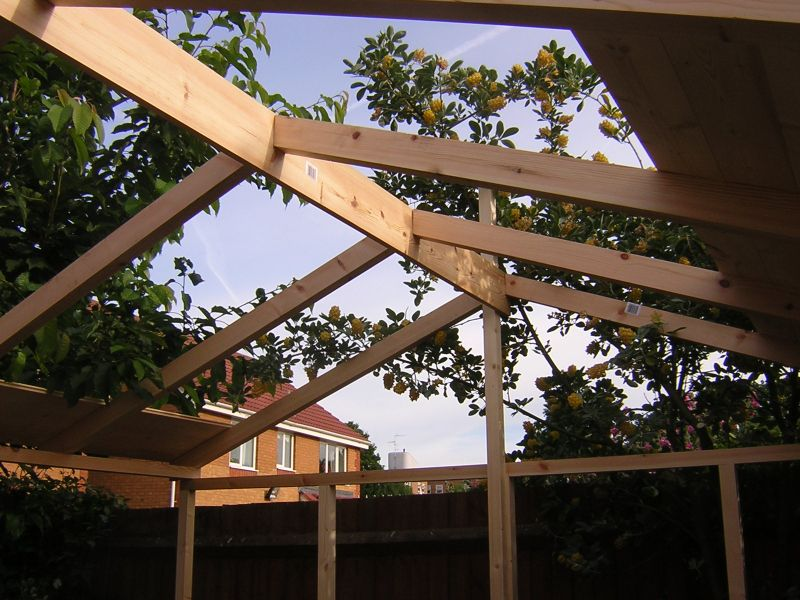 Timber Frame For Enclosure ...