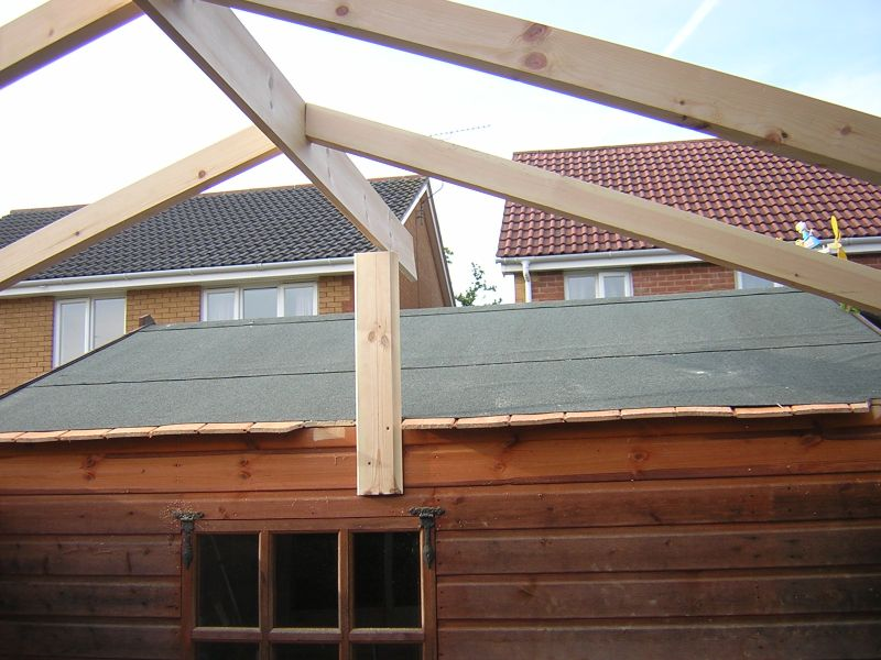 Timber Frame For Enclosure Attached Frame To End Of Existing Summer House  ...